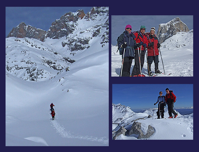 Snowshoeing in the Picos
